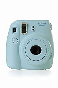 Fujifilm Instax Mini 8 Instant Film Camera 5-in-1 Set + 2 Packs Fuji Film Instant Film Twin Pack + Compact Camera Case + Pack of AA Batteries + Lens Cleaner Cloth Bundle