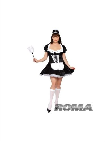 Plus Size 3Pc French Maid Costume