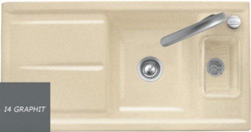 Villeroy & Boch Laola 60 Graphit Grau Einbau Becken Auflage Keramik Spüle Küche