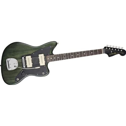 Fender Thurston Moore Jazzmaster Electric Guitar Forest Green Transparent [並行輸入]