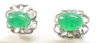 Jade Stud Earrings Small