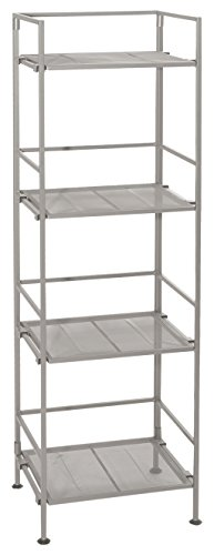 Seville Classics SHE04226 4 Tier Mesh Square Tower Shelving (Build In Bookshelf compare prices)