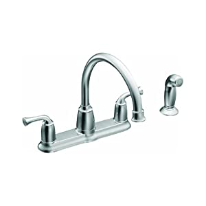 Moen Ca87553 High Arc Kitchen Faucet With Side Spray From