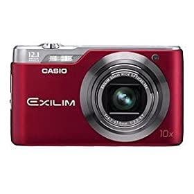 Casio Exilim EX-H5RD 12.1 MP Digital Camera with 10x Zoom (Red)