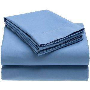 Crescent Dorm Room Sheet Set - Twin Extra-long 200 TC (Light Blue)