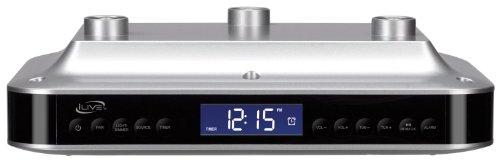 Ilive Bluetooth Under The Cabinet Kitchen Clock Radio Wireless Speaker System
