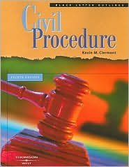 Black Letter Outline on Civil Procedure 8th (egith) edition Text Only