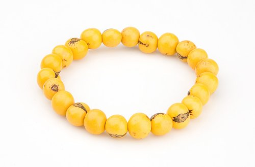 Zorbitz Giving Tree Acai Seed End World Poverty Bracelet, Yellow