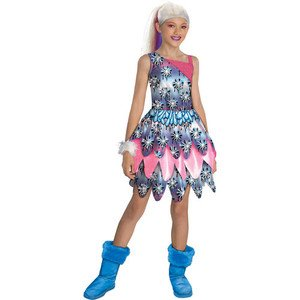 Monster High Abbey Bominable Dot Dead Gorgeous Halloween Costume Medium (8-10)
