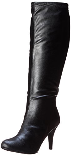 Diba Girl Women's Time Crunch Boot, Black Leather, 8.5 M US
