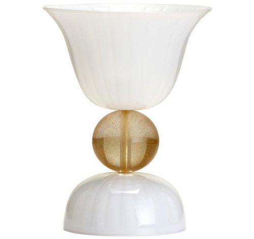 Cyan Design 04462 Morgan 1-Light Table Lamp, White Glass Finish