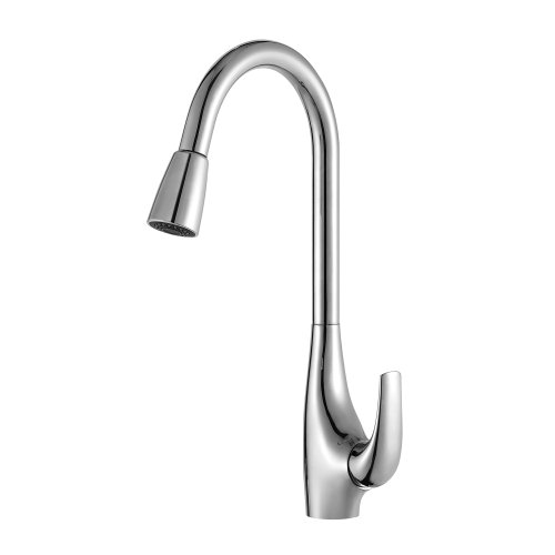 Kraus KPF-1621 Single Lever Pull Out Kitchen Faucet, Chrome