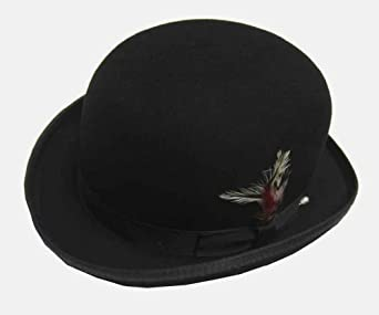 Amazon.com: Wool Felt Satin Lined Derby Hat: Costume