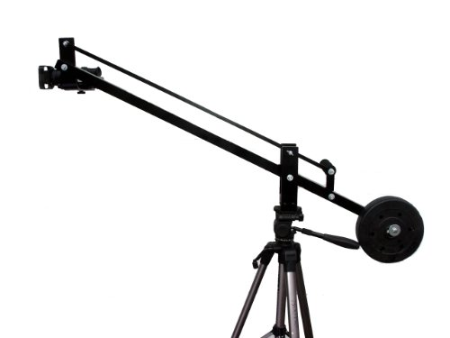 4 Foot Small Camera Crane Jib, for DSLR's Film Video, Monitor Bracket included