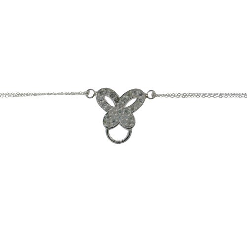 Sterling Silver Butterfly Charm Component Bracelet