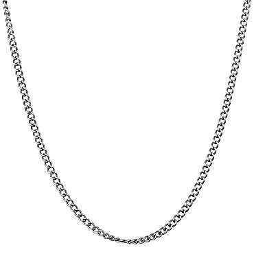 Men's Stainless Steel Curb Link Chain Necklace