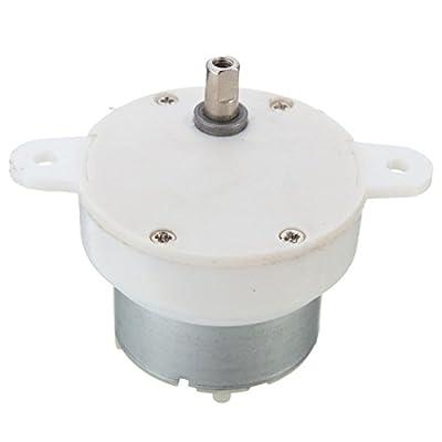 Yosoo 12V DC High Torque Slow Speed Electric Motor Gearbox 3 RPM 4mm Shaft Diameter