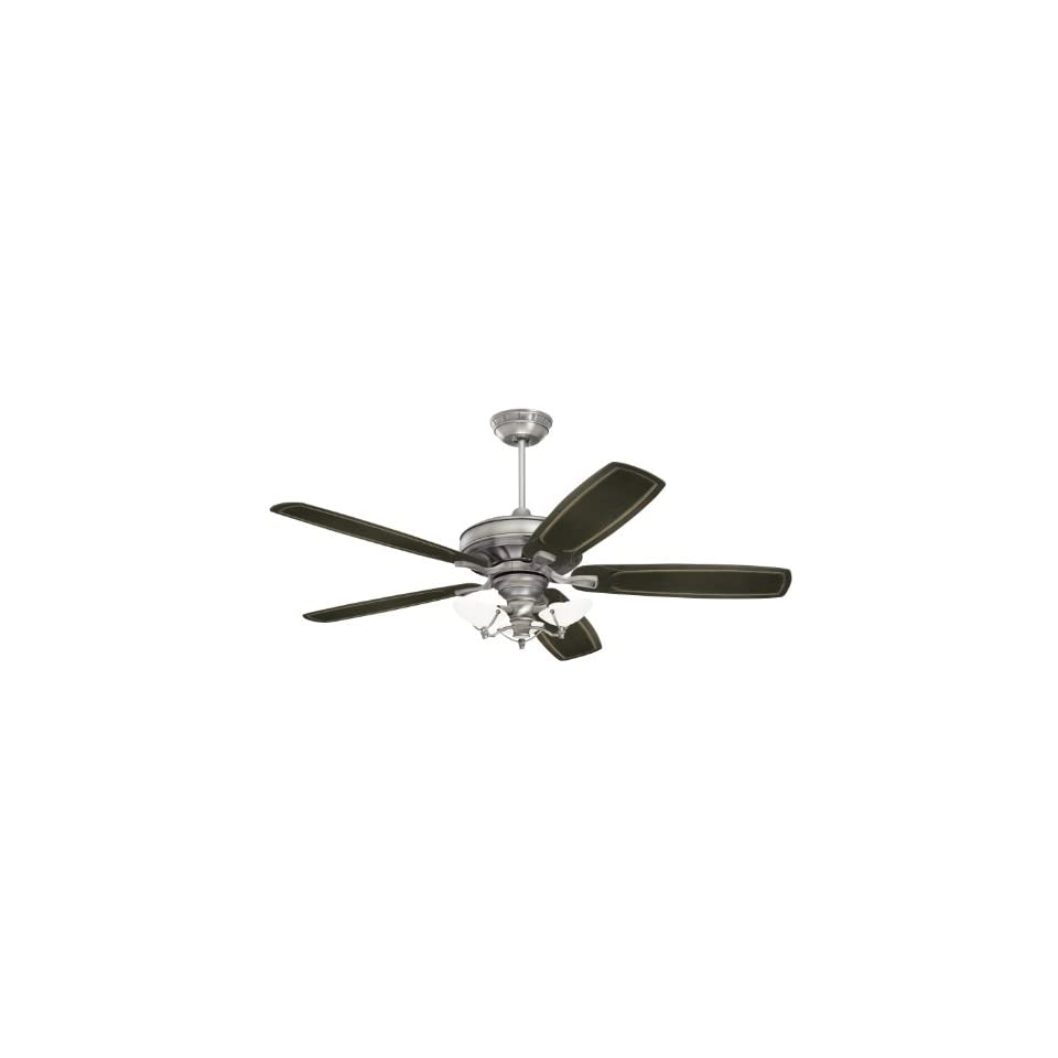 Emerson CF787AP Carrera Grande Indoor/Outdoor Ceiling Fan, 54 Inch, 60 Inch or 72 Inch Blade Span, Antique Pewter Finish, Blades Sold Separately