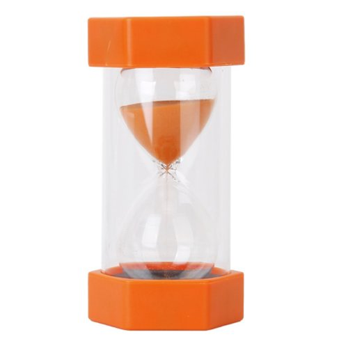 Security Safety Fashion Hourglass Sand Clock Timer for Children Brush Teeth Kitchen Countdown (2 Minutes, Orange) (Sand Timers 2 Minute compare prices)