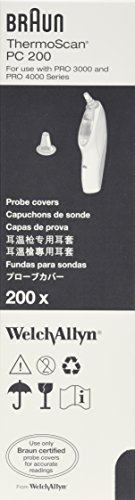 Braun PC 200 Probe Cover by Welch Allyn (Pack of 200) (Braun Thermoscan Pro4000 compare prices)