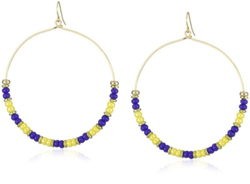 Vanessa Mooney Kiss Kiss Yellow Hoop Earrings
