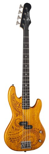 Luna Guitars Tat 34 Tattoo Electric Bass Long Scale Guitar