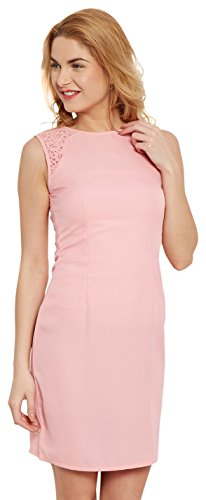 The Vanca Women's Georgette Skater Dress (DRF500483-Peach-L )