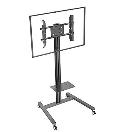 stand181-n–Peana TV 180cms con ripiano regolabile in altezza. Con Ruote. C/Nero.