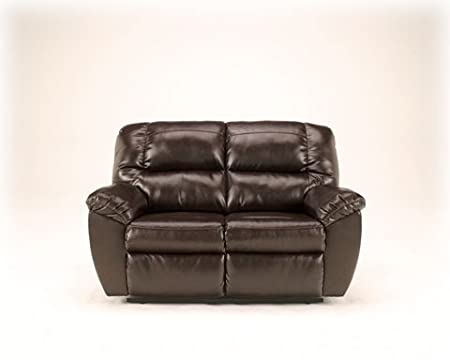 Rouge Durablend Mahogany Reclining Loveseat with Power