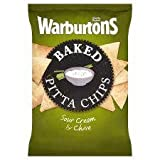 Warburtons Baked Pitta Chips Sour Cream & Chive 150G