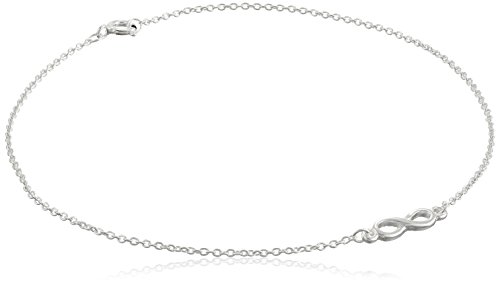 Sterling Silver Infinity Cable Chain Anklet, 10