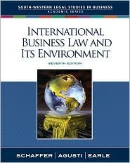 International Business Law and Its Environment 7th (seventh) edition Text Only