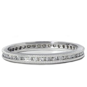 .50CT Channel Diamond Eternity Wedding White Gold Ring