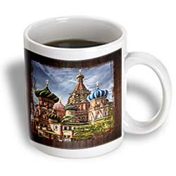 3Drose Russian Cathedral Mug, 11-Ounce