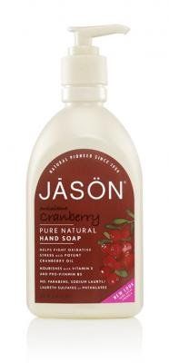 Jason Cranberry Canneberge Satin Soap for Hands and Face, 16 Ounce