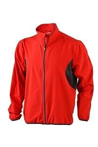 James & Nicholson Men's Running Jacket Red/Black,S