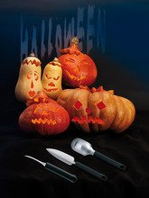 Triangle 908350302 3 Piece Pumpkin Carving Set (Halloween Cutouts For Pumpkin Carving)