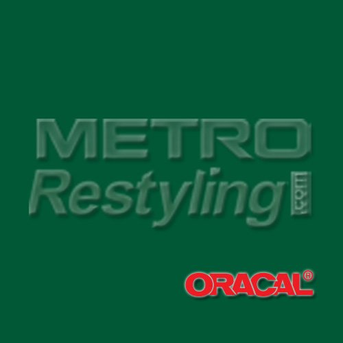 """Oracal 631 Matte Dark Green Wall Graphic, Craft, Cricut & Sign Vinyl Decal Adhesive Backed Sticker Film 24""""X12"""" front-1003883"""