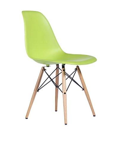 Set De 2 Sillas Wooden New Color Collection Verde