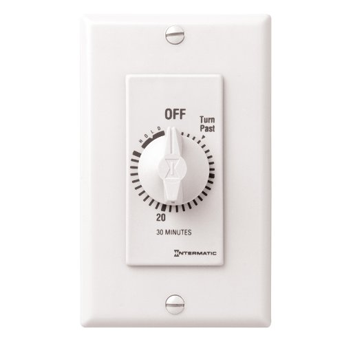 Intermatic Fd30Mhw 30-Minute Spring Loaded Wall Timer, White