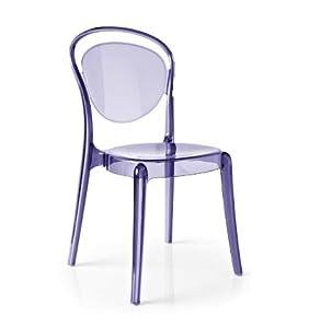 calligaris set 2 sedie parisienne trasparente casa e cucina. Black Bedroom Furniture Sets. Home Design Ideas