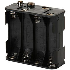 Battery Holder for (8) AA with Standard Snap Connector : BH383