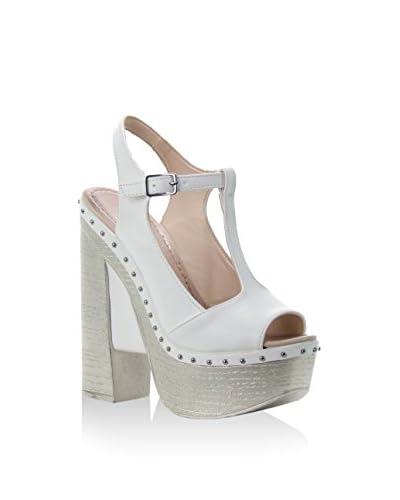 Bolsa Celestina Sandalo Con Tacco [Bianco]