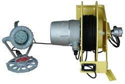 Explosion Proof Led Light W/ Exp. Cord Reel - Pedestal Mount - 30 Watts - 2,200 Lumen(-120Vac)