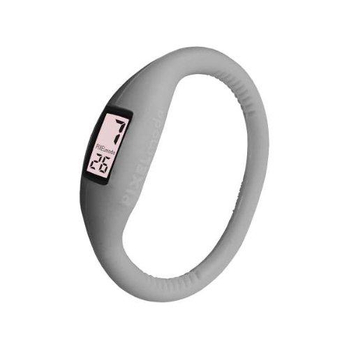 Pixelmoda Digital GREY Color Water Resistant Italian Style Unisex Silicone Watch – SMALL 15 CM