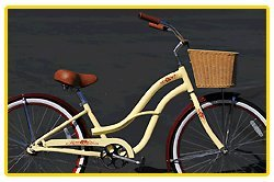 Aluminum Alloy Anti-Rust Frame, Fito Brisa Alloy 1-speed - Mocha & Wicker Basket, women's 26