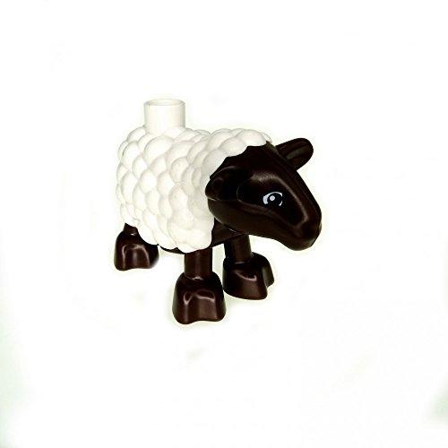 1 x Lego Duplo Tier Schaf braun weiss Lamm Hammel