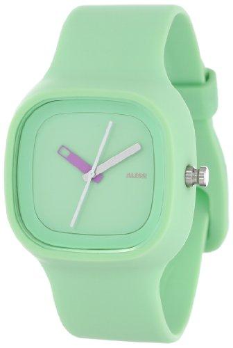 Alessi AL10024 - Reloj analógico automático unisex, correa de plástico color verde