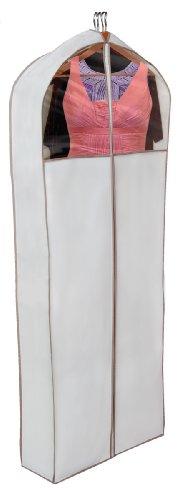 Dazz Gusseted Gown Garment Bag, Beige