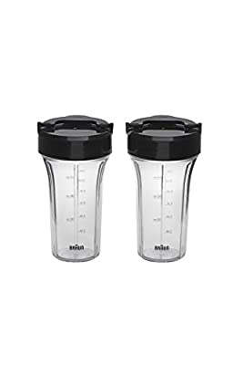 Braun JB71 PureMix Jug Blender Accessory Smoothie 2Go Blending Set, Black